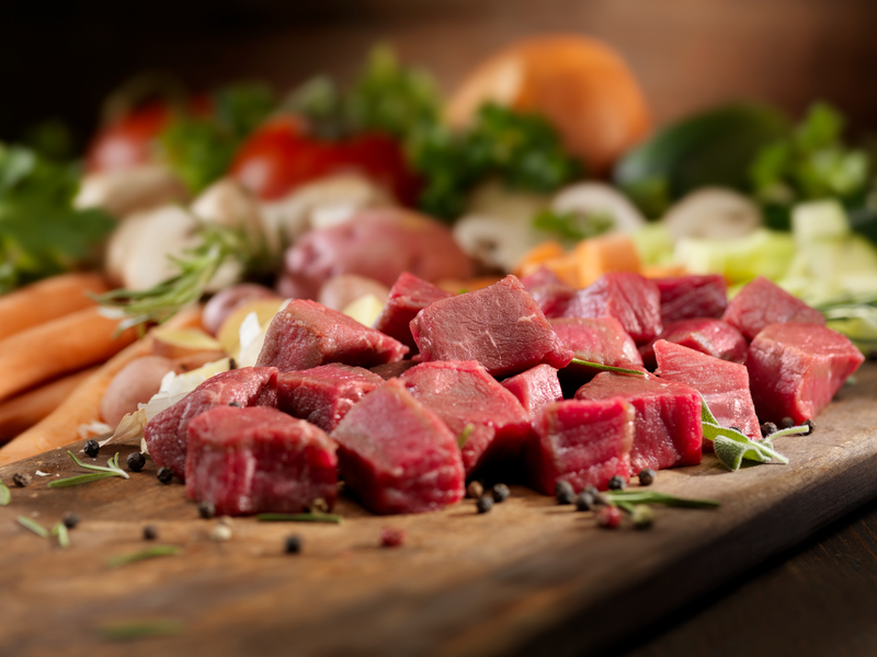 Raw Ingredients for Beef Stew or Beef Vegetable Soup- Photographed on Hasselblad H3D2-39mb Camera