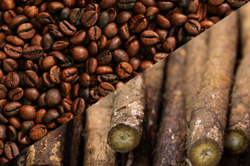 coffee beans as food background